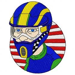 Motocross Helmet embroidery design