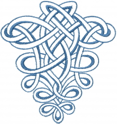 Knotted Loop Outline embroidery design