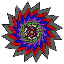 Spiral Colors embroidery design