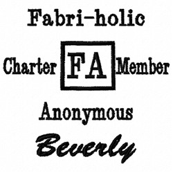 Fabric Anonymous embroidery design
