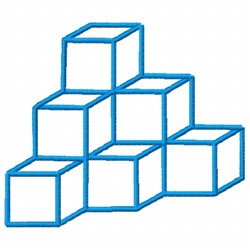 3D Cubes Outline embroidery design