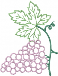 Grape Cluster Outline embroidery design