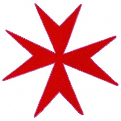 Fire Cross embroidery design