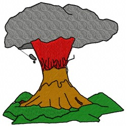 Volcano Erupting embroidery design