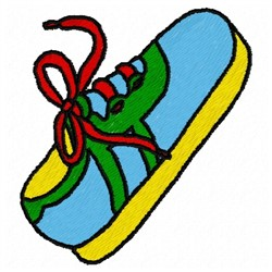 Colorful Shoe embroidery design