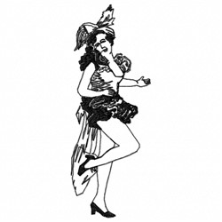Dancing Showgirl embroidery design