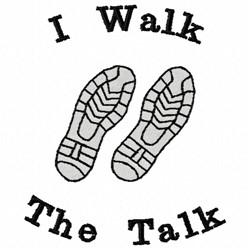 I Walk The Talk embroidery design