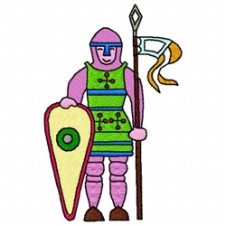 Knight Flag embroidery design