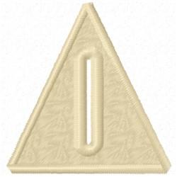 Triangle Button Hole embroidery design