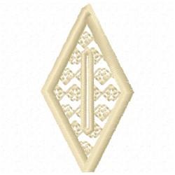 Diamond Button Hole embroidery design