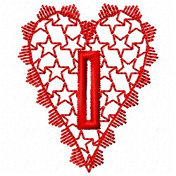 Heart Button Hole embroidery design