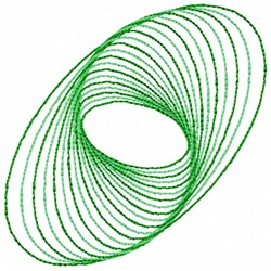 Spiral Swirl embroidery design