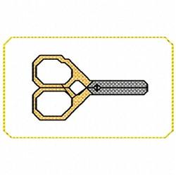 Altoid Scissors embroidery design