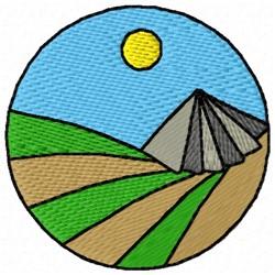 Circle Mountain embroidery design