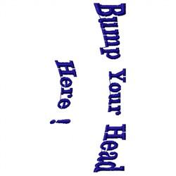 Bump Head embroidery design