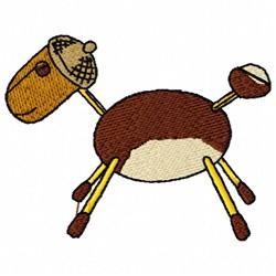 Chestnut Animal embroidery design