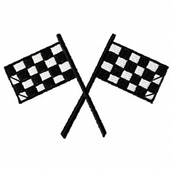 Racing Flags embroidery design