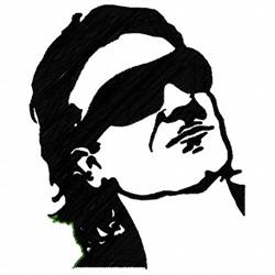 Bono Silhouette embroidery design