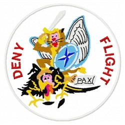Deny Flight embroidery design