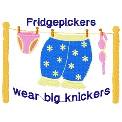 Fridge Pickers Big Knickers embroidery design