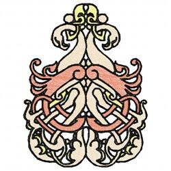 Flamingos Swirl embroidery design