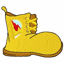 Hiking Boot embroidery design