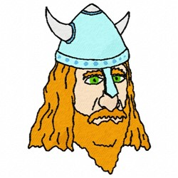 Viking Head embroidery design