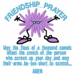 Friendship Prayer embroidery design