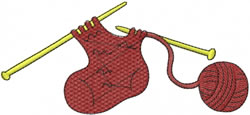 Knitting A Sock embroidery design