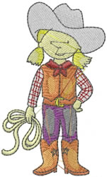 Rodeo Girl embroidery design