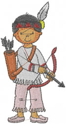 Native American Boy embroidery design