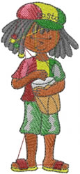 Jamaican Boy embroidery design