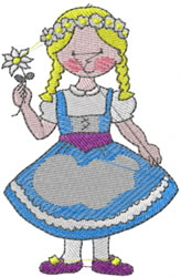 Austrian Girl embroidery design