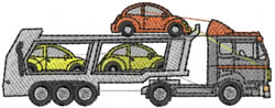 Car Transporter embroidery design