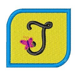 Butterfly Alphabet J embroidery design