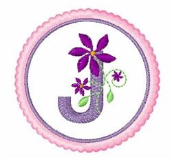 Floral Motif J embroidery design