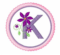 Floral Motif K embroidery design