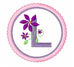Floral Motif L embroidery design