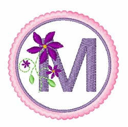 Floral Motif M embroidery design