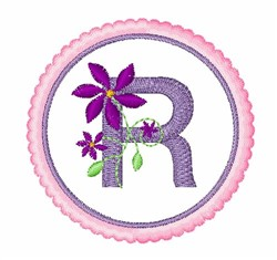 Floral Motif R embroidery design