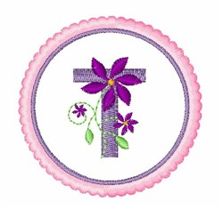 Floral Motif T embroidery design