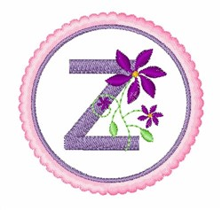 Floral Motif Z embroidery design