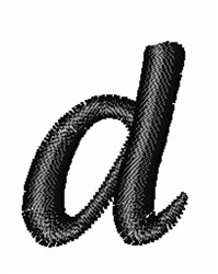 Floral Twirl Lowercase D embroidery design