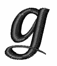 Floral Twirl Lowercase G embroidery design