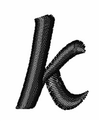 Floral Twirl Lowercase K embroidery design