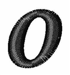 Floral Twirl Lowercase O embroidery design