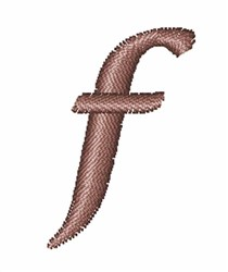 Rose Alphabet Lowercase F embroidery design