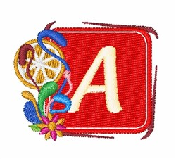 Tropocal Letter A embroidery design