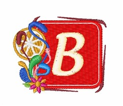 Tropocal Letters B embroidery design