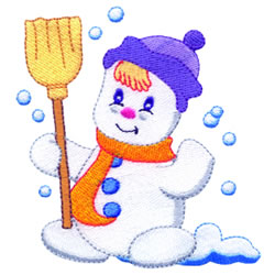 Little Snowman embroidery design
